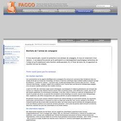 FACCO - 3. Bienfaits de l'animal de compagnie