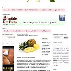 Les bienfaits de l'ananas (Ananas comosus)