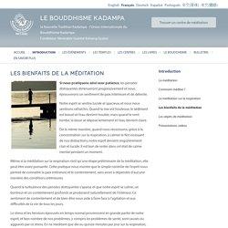 Les bienfaits de la méditation - Kadampa Buddhism