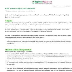 REGIMESMAIGRIR 24/09/14 Nutella : bienfaits et risques, valeur nutritionnelle