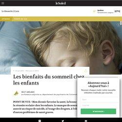 Les bienfaits du sommeil chez les enfants