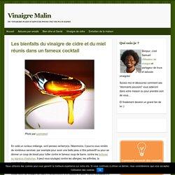 Les bienfaits du vinaigre de cidre et du miel réunis