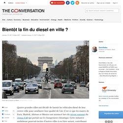 Bientôt la fin du diesel en ville?