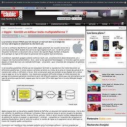 Apple : bientôt un éditeur texte multiplateforme ?