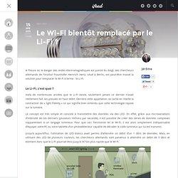 Le Wi-Fi bientôt remplacé par le Li-Fi ? - iFeed