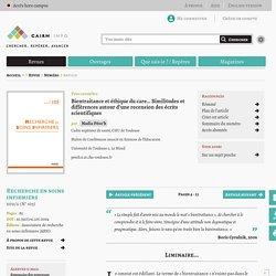 Bientraitance et éthique du care... Similitudes et différences autour d'une recension des écrits scientifiques
