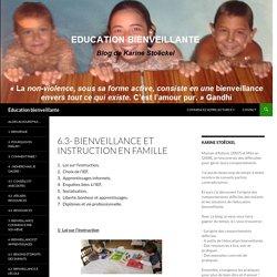 6.3- Bienveillance et instruction en famille