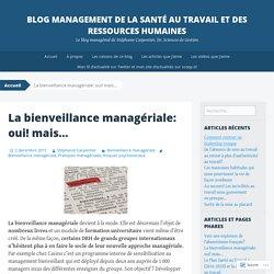 Blog Management de la Santé au travail et des Ressources Humaines