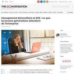 Management bienveillant etRSE: ceque lesjeunes générations attendent del'entreprise
