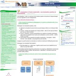 L'évaluation à l'école maternelle : une évaluation positive et bienveillante- Pédagogie - Direction des services départementaux de l'éducation nationale du 17