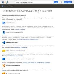 Te damos la bienvenida a Google Calendar - Ayuda de Google Calendar