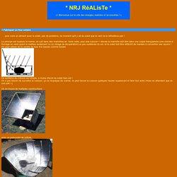 NRJ Realiste - information sur fours solaires