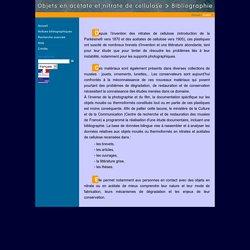 [FR]Objets en acétate de cellulose et nitrate de cellulose