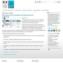 Bienvenue sur le nouveau site sports.gouv.fr