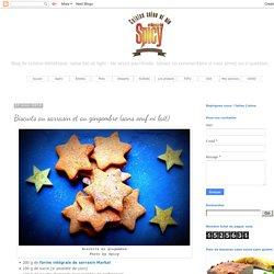 Biscuits au sarrasin et au gingembre (sans oeuf ni lait)