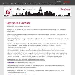 Bienvenue à Charlotte - Alliance Française