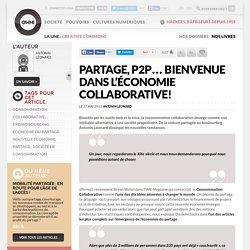 Partage, P2P… bienvenue dans l'économie collaborative!