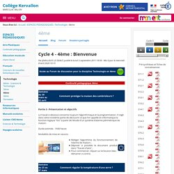 Cycle 4 - 4ème : Bienvenue - 4ème - COLLEGE MARCILLAC VALLON
