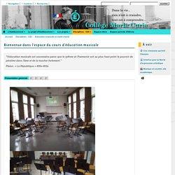 Etablissements de Paris - Bienvenue dans l'espace du cours d'éducation musicale