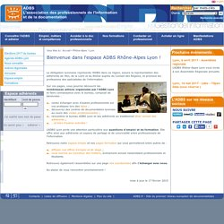 Bienvenue dans l'espace ADBS Rhône-Alpes Lyon !