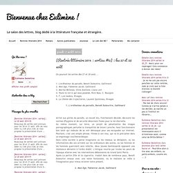 """Blog """"Bienvenue chez Fanny"""" - [Rentrée littéraire 2014 : sorties #12] : les 27 et 28 août"""