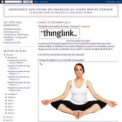 Thinglink et les parties du corps - Français I - 2013-14