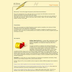 Bienvenue ! Ceci est la page française du site Internet de AV Bros.!