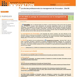 Bienvenue sur le site innovationmanagement.fr ou Site MI