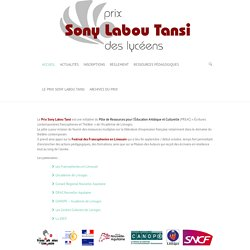 Bienvenue - Prix Sony Labou Tansi des Lycéens