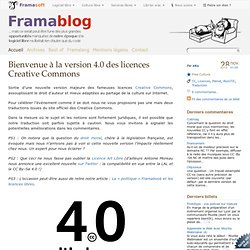 Bienvenue à la version 4.0 des licences Creative Commons