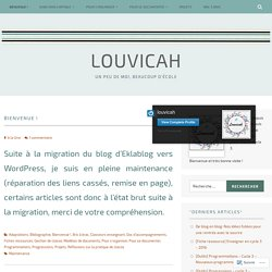 Bienvenue ! – Louvicah