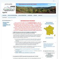 Bienvenue sur le site des Maires Ruraux de France