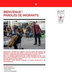 Bienvenue, paroles de migrants - Un duo voix-violoncelle