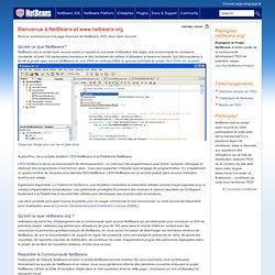 Bienvenue à NetBeans et www.netbeans.org, Site d'Hébergement de l'EDI Open Source Java