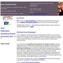 Bienvenue sur la page de Jean-Daniel Kant