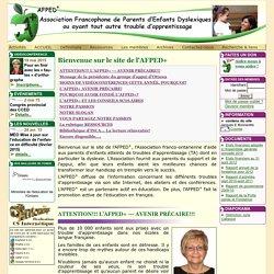 Bienvenue sur le site de l'AFPED+