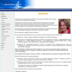 Bienvenue sur le site de Dominique Groux