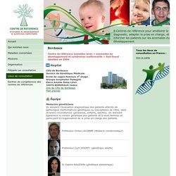 Centre de référence des anomalies du développement et syndromes malformatifs - Bordeaux
