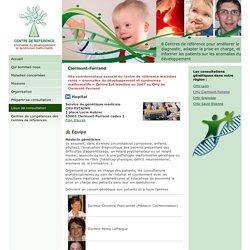 Centre de référence des anomalies du développement et syndromes malformatifs de Clermont-Ferrand