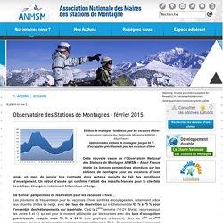 Observatoire des Stations de Montagnes 02/2015