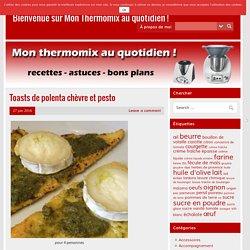 Toasts de polenta chèvre et pesto – Bienvenue sur Mon Thermomix au quotidien !
