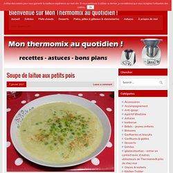 Soupe de laitue aux petits pois - Bienvenue sur Mon Thermomix au quotidien !