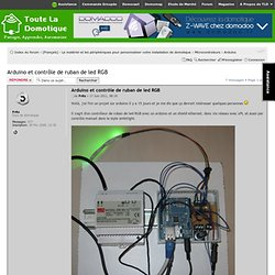 Afficher le sujet - Arduino et contrôle de ruban de led RGB