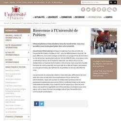 Bienvenue à l'Université de Poitiers