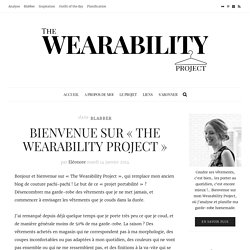 Bienvenue sur « The Wearability Project » – The Wearability Project