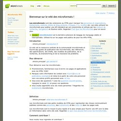 Main Page-fr · Microformats Wiki