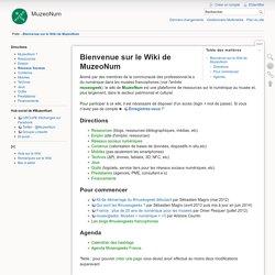 Bienvenue sur le Wiki de MuzeoNum