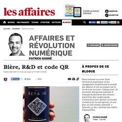 Bière, R&D et code QR