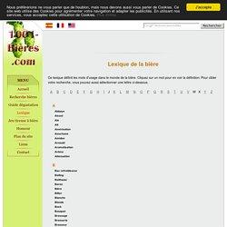 1001 Bieres - Lexique - Dictionnaire de la bière