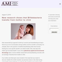 New research shows that Bifidobacteria transfer from mother to child — The American Microbiome Institute